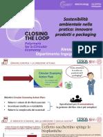 Sostenibilità e circolarità dei prodotti