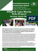 ENLACE Caño Martín Peña Project, San Juan, PR