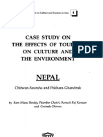 Case Study on the Effects of Tourism on Culture and the Environment