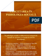 Cercetarea in psihologia sociala
