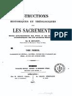 Instructions historiques et théologiques sur les sacrements (t. 1) - M. Boucarut