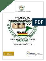 1° PROYECTO INTERDISCIPLINAR CIENTIFICO 2 SEMANA 1