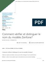 Comment vérifier et distinguer le nom du modèle Zenfone