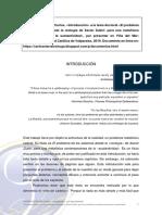 SIERRA-LECHUGA, Carlos. «Introducción» a la tesis doctoral «El problema de los sistemas desde la reología de Xavier Zubiri