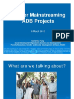 Gender Mainstreaming ADB Projects