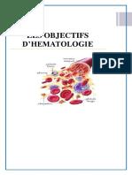 Objectifs D_Hématologie (Pr BELAKEHAL)