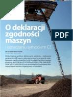 O deklaracji zgodności maszyn i oznaczaniu symbolem CE