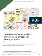 100 Atividade para trabalhar sentimentos e emoções na educação infantil - Como Fazer
