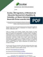 Noticia Escalae ING Ingenieria Ministerio y IDB