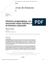 Cerutti Histoire pragmatique, ou de la rencontre entre histoire sociale et histoire culturelle