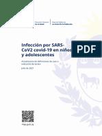 Actualización del MSP definiciones de caso e indicación de testeo en niños y adolescentes  - Julio 2021