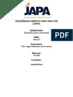 Tarea III de Educacion Para La Diversidad Felix