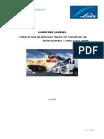 Cahier des Charges Prestation de transit et transport 2020