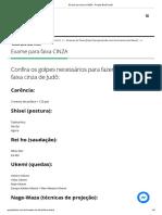 1 Exame para faixa CINZA - Projeto Budô Judô
