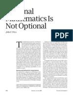 optional mathematics