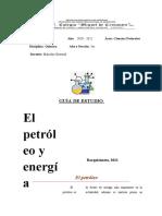 GUIA  EL PETROLEO QUIMICA 5TO CMDC