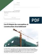 Les 6 étapes de conception et construction d'un bâtiment - Architecte de Bâtiments