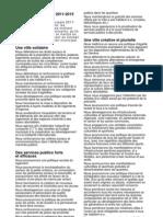 Accord 2011-2015 de l'Alternative en Ville de Genève