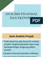 3. Analisis Finansial dan Ekonomi