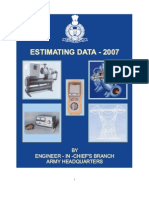 MILITARY ENGINEERING SERVICES ESTIMATING DATA 07