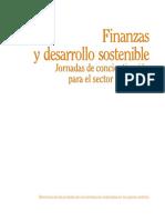 Finanzas y Desarrollo Sostenible. Jornadas de Concientización Para El Sector Financiero