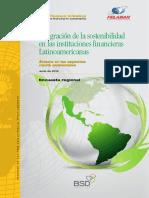 Integración de la sostenibilidad en las instituciones financieras Latinoamericanas