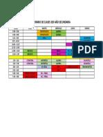 HORARIO DE CLASES 3ER AÑO SECUNDARIA - PAVLOV
