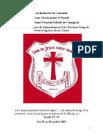 Triduum de Prières Au Très Précieux Sang de Jésus