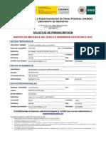 Solicitud Preinscripcion Master CEDEX 2022