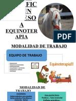 COMO REALIZAR UNA  SESION DE EQUINOTERAPIA CLASE 4
