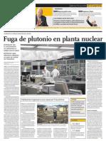 Fuga de Plutonio en Planta Nuclear