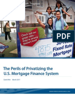 The Perils of Privatizing the U.S. Mortgage Finance System