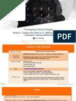 Modulo 4- Gestione del Cliente su FL Telefonica Informazioni Commerciali e Amministrative prepaid 2