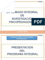 DIPLOMADO INTEGRAL DE INVESTIGACION  PSICOPEDAGOGIA