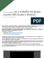 OBS Studio e Shotcut