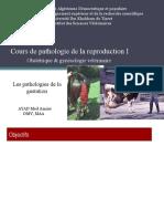 Cours de pathologie de la reproduction I pathologies de la gestation