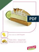 Bergamot and lemon tart