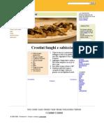 Crostini funghi e salsiccia