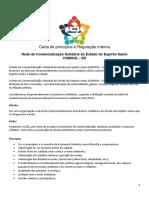 Carta de princípios e Regulação Interna Rede Comsol APROVADA PDF