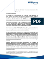 Carta Tasa Moratorio - Endoso Seguro de Vida - Financiera Confianza (1)