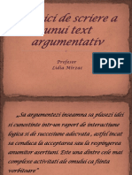 Tehnici de scriere a unui text argumentativ