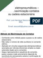 Aula 205 Circuitos eletropneumaticos metodo maximizaçao contatos cadeia estacionaria