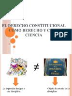 2. DERECHO CONSTITUCIONAL COMO DERECHO Y COMO CIENCIA