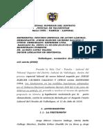 SENTENCIA 2019 - 197 - 01 ESPECIAL DE ACOSO LABORAL