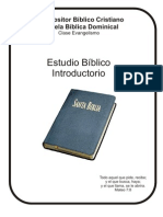 Estudio Bíblico Introductorio