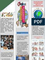 folleto convencion de los derechos de los niños