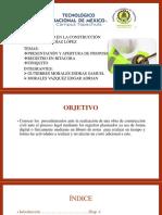 PRESENTACION Y APERTURA DE PROPOS, FINIQUITO, BITACORA