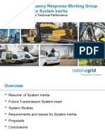Grid Code Frequency Response Working Group Requirements for System Inertia