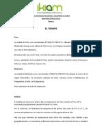Prósticos hidrometeorológicos Tena-Riobamba