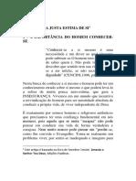 A IMPORTÂNCIA DO HOMEM CONHECER-SE